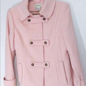 St. John's bay pink cashmere coat